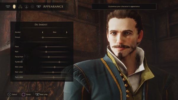 In Greedfall: Colonialism in the New World you can be devilishly handsome