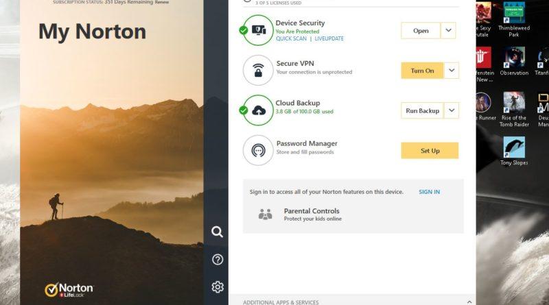 Norton Premium Lifelock