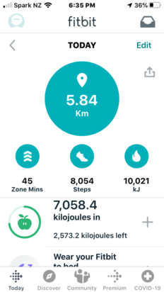 FitBit: Charge 4 - joules, bro