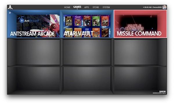 ATARI VCS - Dashboard