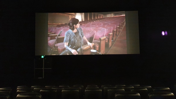 Ellie and ME in empty theatres
